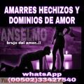 AMARRES Y DOMINIOS DEL BRUJO ANSELMO (00502) 33427540